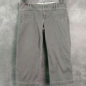 Old Navy Gray Stretch Cotton Low Rise Capri Pants